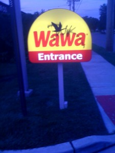 "This Wawa is located on 12th St. ""WaWa"" is Ojibwe for Canadian goose"