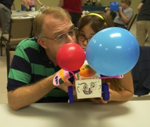 Dual Balloon vehicle--powered by father and daughter!