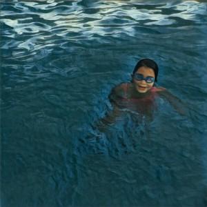 Enjoying the water.